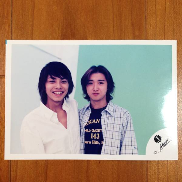 即決¥3000★嵐 公式写真 1718★大野智 今井翼 Jr.時代 Jロゴ 貴重