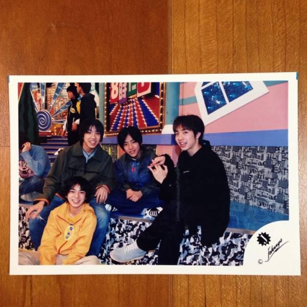 即決¥1000★嵐 公式写真1741★二宮和也 松本潤 Jr.時代 貴重 Jロゴ