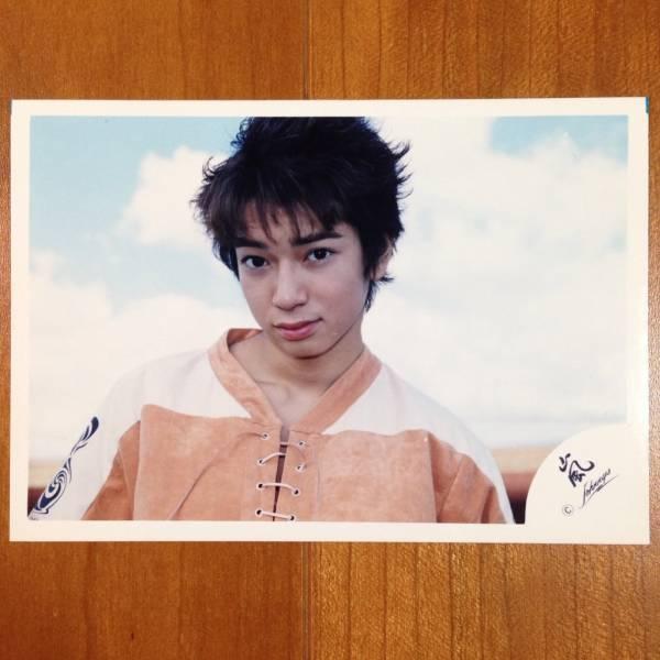 即決¥1000★嵐 公式写真 1966★松本潤 ハワイ 初期 嵐ロゴ