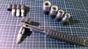 極短 狭所 ショート ミニ ラチェット ギヤ レンチ ソケット ビット セット ドライバー 六角軸 6 8 10 12 mm DIY 改修 工事 小型 軽量
