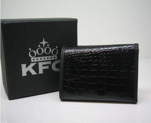 K.F.C キッカーファッカーチキン 【SEATTLE】BLACK 超限定レザーウォレット 新品正規_画像2