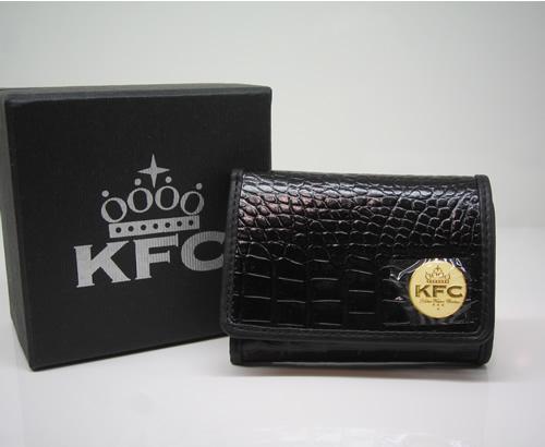 K.F.C キッカーファッカーチキン 【SEATTLE】BLACK 超限定レザーウォレット 新品正規_画像1