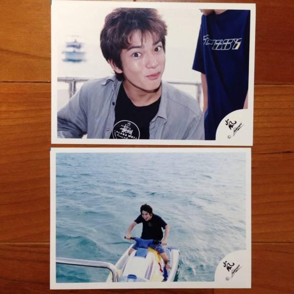 即決¥2000★嵐 公式写真 1456★松本潤 ハワイ 初期 貴重 嵐ロゴ 2枚セット