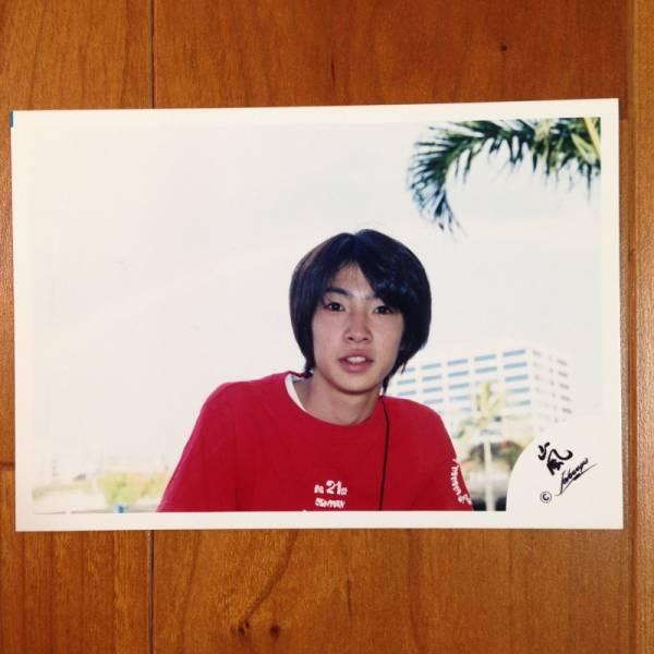 即決¥1000★嵐 公式写真 2058★相葉雅紀 初期 ハワイ 嵐ロゴ