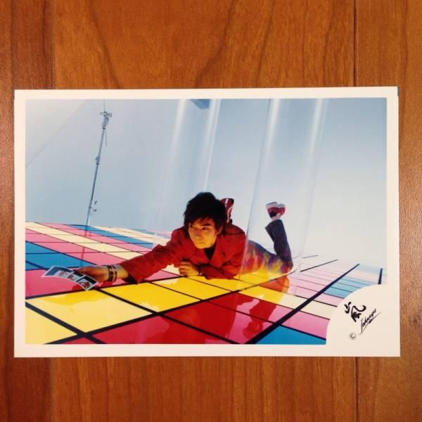 即決¥1000★嵐 公式写真 2081★松本潤 オフショット 嵐ロゴ