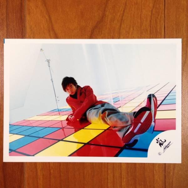 即決¥1000★嵐 公式写真 2082★松本潤 オフショット 嵐ロゴ
