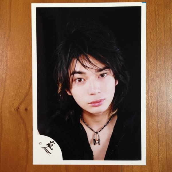 即決¥1000★嵐 公式写真 2090★松本潤 メッシュ 初期 嵐ロゴ