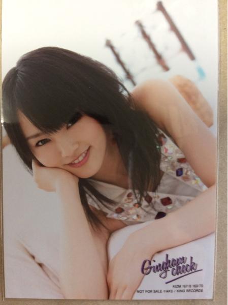 山本彩 生写真 ギンガムチェック 通常盤 AKB48 ライブ・総選挙グッズの画像