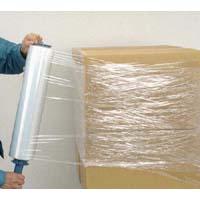 送料一律1200円 ストレッチフィルム 14×500mm×300m 8本入 2AE-58 梱包用 包装 業務用_画像2