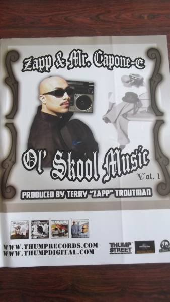 ☆ZAPP & MR.CAPONE-E Ol' School Music Vol.1のポスタ-!