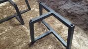 [11万円]耐荷重120kg 無垢一枚板 専用 アイアン脚 スチール脚リビングテーブル天然木ブラック座卓 検ウォールナットウォルナット玉杢トラ杢
