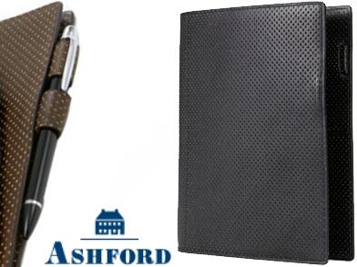 アウトレット新品 アシュフォード 黒 パンチングレザー A5サイズ 6リング システム手帳 6穴式バインダー ASHFORD ブラック 3078-011 完売品_A5サイズ 6リング 黒 3078-011