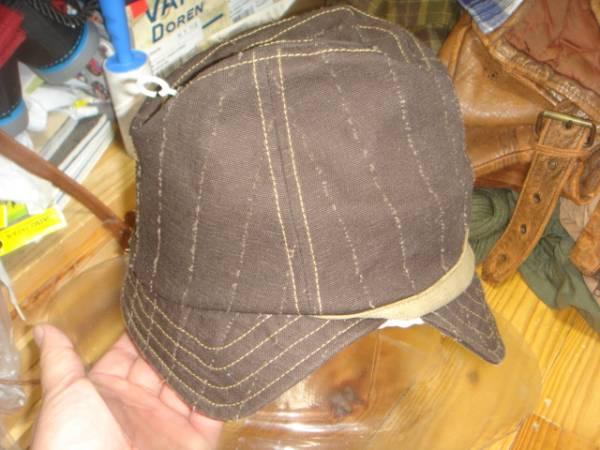 1605カシラCA4LA帆布キャンバス皮革レザー切替 折り返しWORKワークキャップCAP/HATハット帽子L_画像2