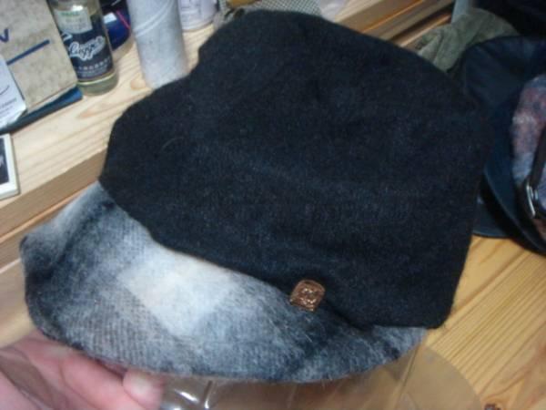 1609カシラCA4LAウールWOOLモヘア ツバ チェック切替ワークキャップCAP帽子モヘヤ ドゴール_画像1