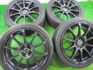 新品 アクア ヴィッツ キューブ ノート デミオ bB 7J+40 4H100 新品タイヤ付き 205/45R17