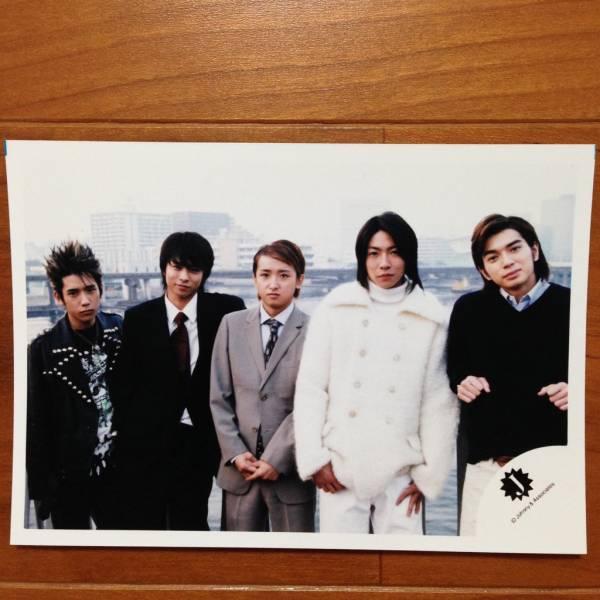 即決¥1000★嵐 公式写真 1268★集合 全員 ピカンチ 嵐ロゴ