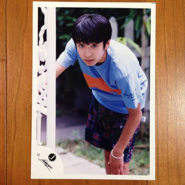 即決¥1500★公式写真 1715★生田斗真 Jr.時代 初期 幼い 貴重 Jロゴ