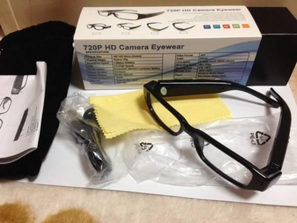 運費340★眼鏡式眼鏡式安防攝像頭720P日本解說出售特價 編號:b341183275