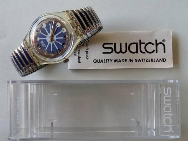 未使用電池交換済 スウォッチ Swatch ブルーセグメント GK148_ケース、説明書も付属します
