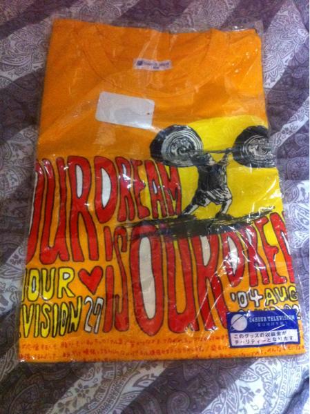 嵐 大野智デザインチャリティーTシャツ Lサイズ2004 ARASHI 黄色