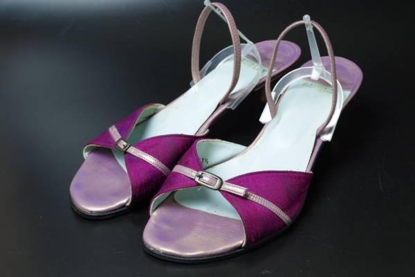 AUDLEYオードリー赤ワインレッド靴サンダル37.5スペイン製_画像1