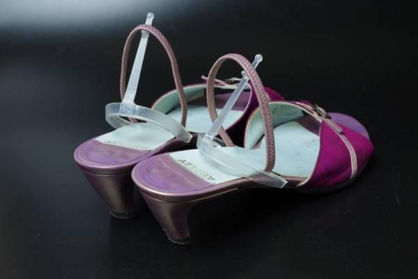 AUDLEYオードリー赤ワインレッド靴サンダル37.5スペイン製_画像2