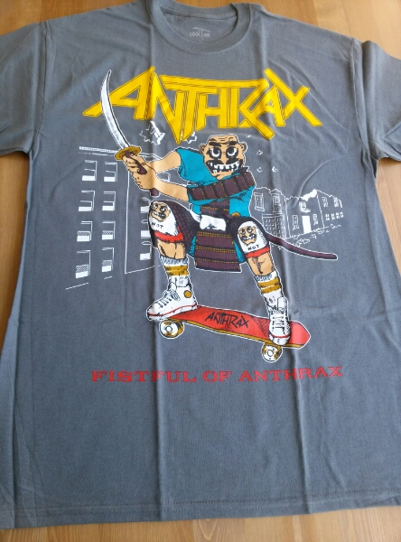 ANTHRAX Tシャツ グレーM fistful of / metallica s.o.d