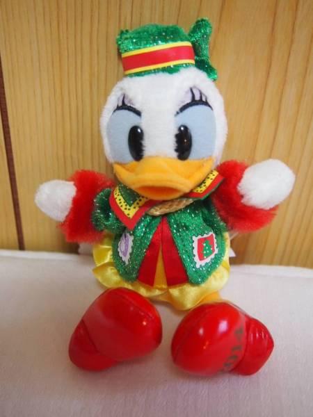 ディズニーランド☆2014 クリスマス デイジー ぬいぐるみバッジ ディズニーグッズの画像