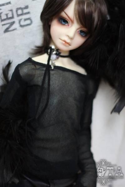 【N・TA】 MSD、SD,SD13、SD17少年用ネット長袖Tシャツ(黒)_画像1