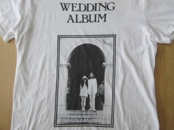 USA製 ジョン レノン オノ ヨーコ フォト Tシャツ S 白 イマジン