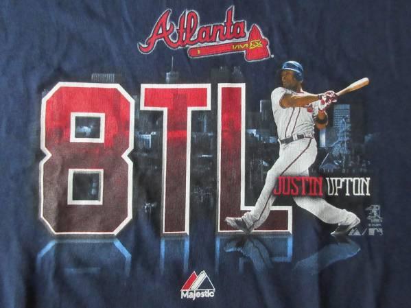 アトランタ ブレーブス Majestic Justin Upton Tシャツ YOUTH L Atlanta Braves ジャスティン アップトン マジェスティック MLB 野球 /_Atlanta Braves Justin Upton・Tシャツ