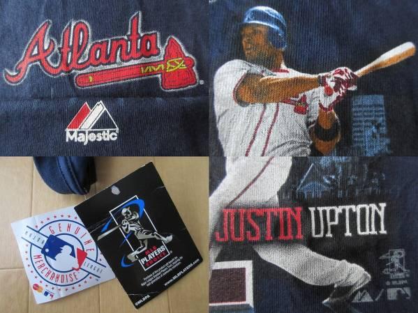 アトランタ ブレーブス Majestic Justin Upton Tシャツ YOUTH L Atlanta Braves ジャスティン アップトン マジェスティック MLB 野球 /_画像3