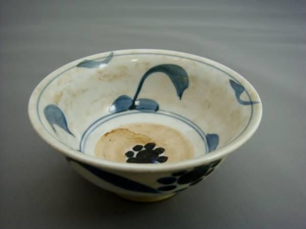 茶碗■くらわんか杯 古い染付碗 古い鉢 酒盃 江戸期 花唐草 古美術 時代物 骨董品■_画像1