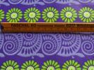 スイス製 ヴィンテージ&レトロ ワックスペーパー 包装紙 (紫、パープルのアンモナイト&花)