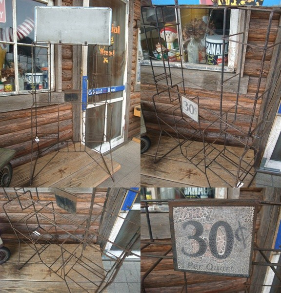 ESSOエッソオイル缶50s什器飾り棚ラック/ビンテージガレージ看板_画像2