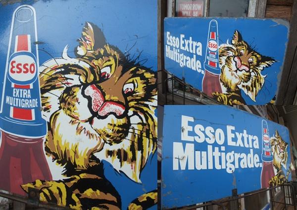 ESSOエッソオイル缶50s什器飾り棚ラック/ビンテージガレージ看板_画像3