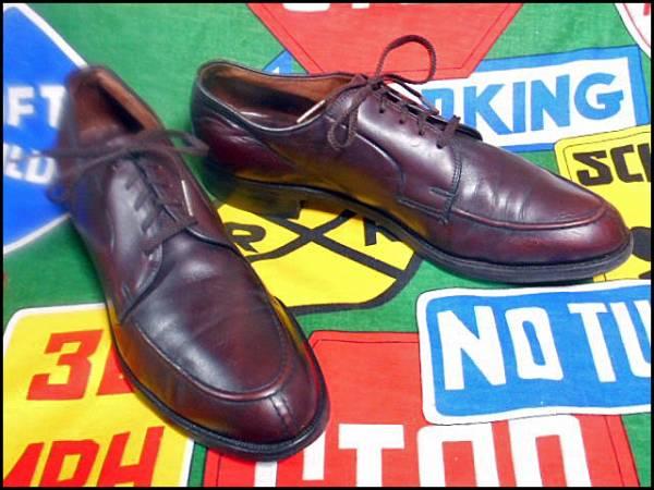 ★美品なコンディション★Made in USA製アメリカ製WrightライトビンテージYチップレザーシューズドレスシューズ革靴短靴50年代60年代50s60s_画像2