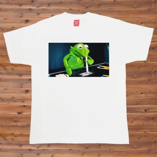 新品 カーミット セサミストリート コカイン吸引 Tシャツ5【S】_画像1
