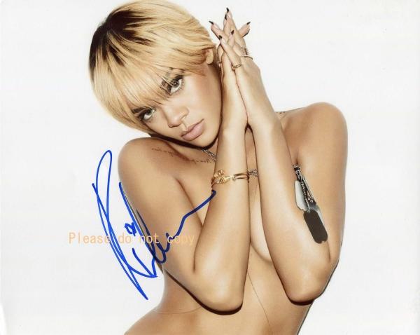 Rihanna リアーナ サイン フォト