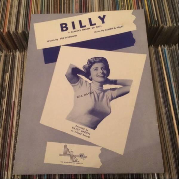 SHEET MUSIC KATHY LINDEN/BILLY ケイシー・リンデン_画像1