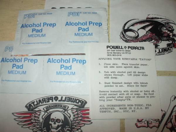 デッドストック 80年代 POWELL テンポラリー タトゥー_画像2