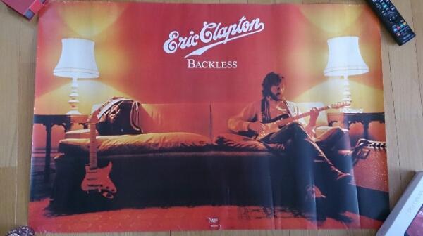 エリック クラプトン 名盤バックレス非売品ポスター貴重!