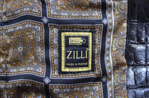 ZILLI ジリー クロコダイル レザー ミンク 衿 ブルゾン Y-180709_画像3