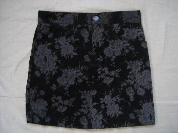 【良品!】●CLOSE.UP/クローズアップ●花柄コーデュロイスカート