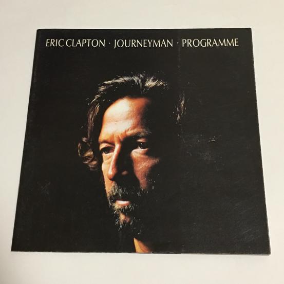 エリッククラプトン 1990年 来日公演 パンフレット ERIC CLAPTON ライブグッズの画像