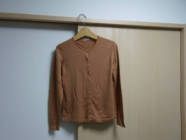 MADE IN ENGLAND PETER GEESON brown 未使用 カーディガン_画像1
