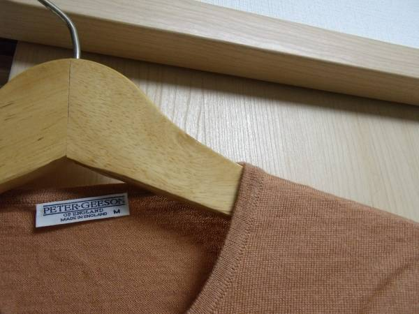 MADE IN ENGLAND PETER GEESON brown 未使用 カーディガン_画像2