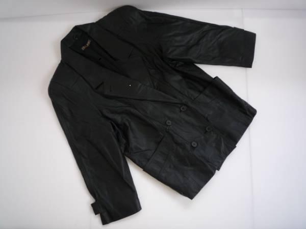 値下げ!【お買い得!!】 ◆ BRUGE ◆ 長袖ジャケット 黒色 牛革 L