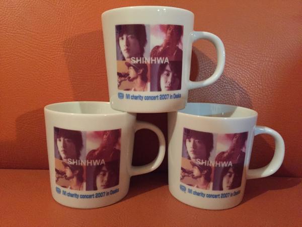 ★SHINHWA シンファ マグカップ 3個 コンサート 韓流 神話 コンサートグッズの画像