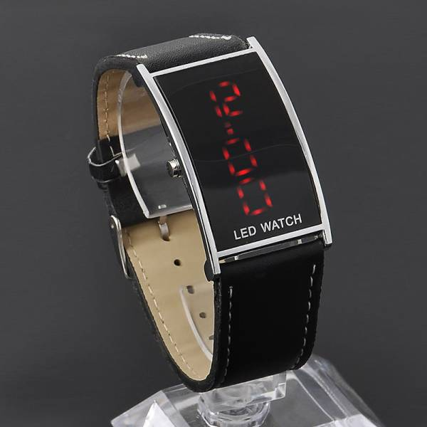LEDデジタルウォッチ メンズ 生活防水 見やすい大画面液晶 腕時計 薄型液晶_画像1
